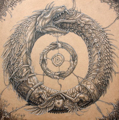 Змея, кусающая себя за хвост (уроборос)